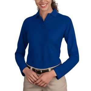 Ladies Silk Touch™ Long Sleeve Polo Thumbnail
