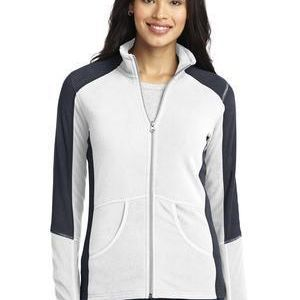 Ladies Colorblock Microfleece Jacket Thumbnail
