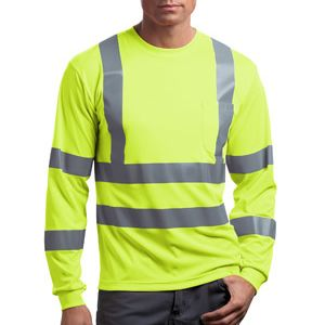 Ansi 107 Class 3 Long Sleeve Snag Resistant Reflective T Shirt Thumbnail