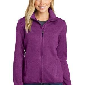 Ladies Sweater Fleece Jacket Thumbnail