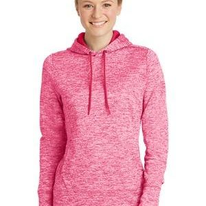 Ladies PosiCharge ® Electric Heather Fleece Hooded Pullover Thumbnail