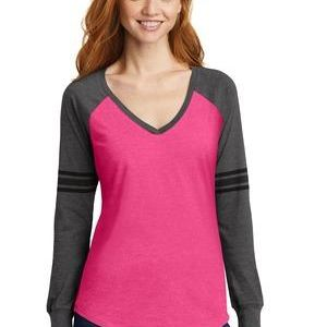® Women's Game Long Sleeve V Neck Tee Thumbnail