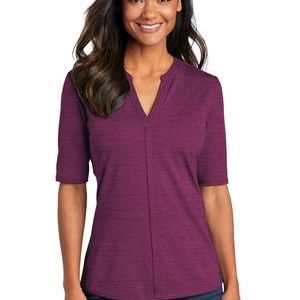 ® Ladies Stretch Heather Open Neck Top Thumbnail