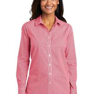 ® Ladies Broadcloth Gingham Easy Care Shirt Thumbnail