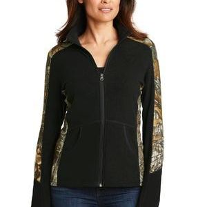 Ladies Camouflage Microfleece Full Zip Jacket Thumbnail
